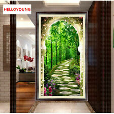 DIY 5d Diamonds Embroidery Bamboo Forest Small Road Diamond Painting Stitch Gift