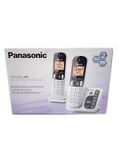 Panasonic DECT 6.0 Cordless Phone System Set of 2 Silver KX-TGC222S Open Box
