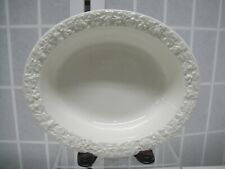 Wedgwood Queens Ware, White on White, Barlaston of Etruria, #2 Oval Vegetable
