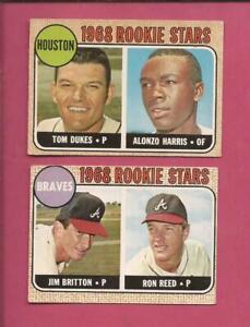 1968  OPC 2 Team Rookie Stars : ASTROS ( T. Dukes )  BRAVES ( R. Reed )  med. gr