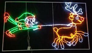 Elf Catching Reindeer