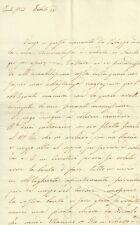 Lettera Autografo Teresa Antinori Rinuccini al Conte Greppi Galloncino Oro 1810