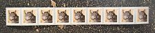 2015USA   #4672a  1c  Bobcat  Coil  Strip of 9  PNC  Mint  NH   .01  #P1111