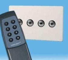 V-Pro Ir, 4 Gang Remoto/Toque Dimmer LED, control remoto sin tornillos Premium Blanco Inc