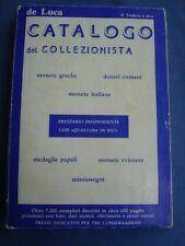 DE LUCA-CATALOGO COLLEZIONISTA-MONETE GRECHE-DENARI ROMANI-MEDAGLIE PAPALI.....
