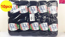 10 x NEW Knitting Yarn Crochet Ball Wool Acrylic 100g 190m 8Ply Black WIN-038