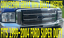 Ford CHROME Grille CONVERSION Fits 1999-2004 Super Duty WITH BILLET INSERTS !!