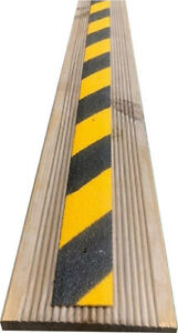 GRP HAZARD STRIPS FOR SLIPPERY DECKING AND RAMPS - FREE SCREWS