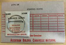 NOS Genuine Bulova Accutron Crystal Armored White 1474AW - 30.6 mm