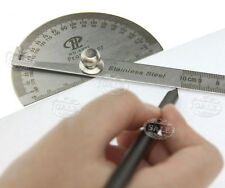 0-180 Degree Stainless Steel Protractor Arm Measure Ruler Angle Finder Gauge