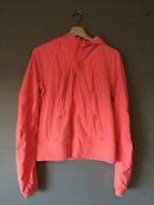 Lululemon Street To Studio Jacket Size 10 Orange Coral Hooded Zip Up Bright