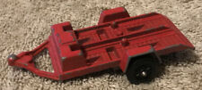 Vintage 1969 TootsieToy Red Die-Cast Motorcycle Trailer - Made In USA