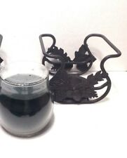 Christmas Pine Jar Candle & Wrought Iron Toboso Holder Longaberger New