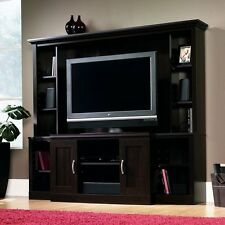 BEAUTIFUL LARGE Cherry Entertainment Center with Shelves