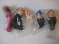 vtg Israeli FINGER PUPPET LOT king police doll figure house toy Judaica Hebrew