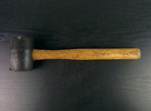 #ad347  Mac Tools 32 Oz Rubber Mallet Model Rm32 Wood Handle Good Shape