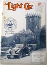 The LIGHT CAR 8 Nov 1935 Triumph Gloria tested Original Motoring Car Magazine