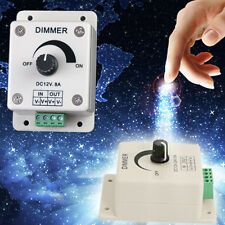 UK DR DC 12V 8A LED Light Protect Strip Dimmer Adjustable Brightness Controller