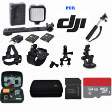 FULL PRO KIT WITH ALL MOUNTS LED LIGHT FOR DJI OSMO ACTION CAMERA WITH 2 SCREENS