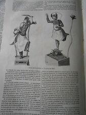 La Kamtschatka Idoles 1845 Gravure Article de presse