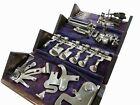 Restored Refinished Antique Singer Sewing 1889 Puzzle Box Original Purple Cloth