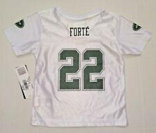 "Infant Toddler Unisex NFL Jets ""22 Forte"" White Shirt Size 4 T"
