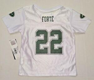 Toddler Infant Girls NFL NY Jets Team Jersey # 22 Matt Forte White 12M 4T