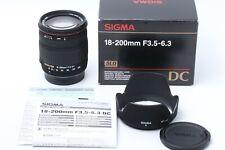 """""""MINT in BOX"""" SIGMA DC 18-200mm f/ 3.5-6.3 ZOOM PENTAX JAPAN #200005"""