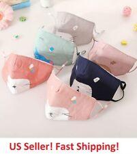 Reusable Face Masks for Child Boys Girls Animal Print Blue Pink  for Kids