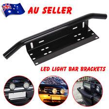 Number Plate Black Holder Mount Bracket Car LED Driving Light Bar Spot Licence