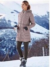 NEW ATHLETA Chill Down Jacket XXS 00 Foxtail Taupe | Lightweight Coat Parka $228