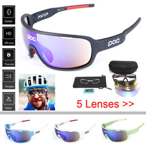 Cycling Glasses Polarized Sunglasses with 5 Interchangeable Lenses Bike Eyewear