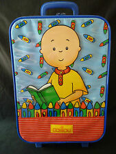 Caillou Rolling Suitcase Kids/Child Travel Luggage RARE! (2001)