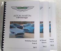 ASTON MARTIN V8 VANTAGE WORKSHOP MANUAL A4 FULL COLOUR ISSUE 8 - 05 TO 13 MODELS