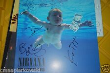Nirvana Nervermind autographed by Dave Grohl, Krist and Butch Vig -In person