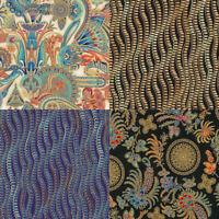 Treasures of Alexandria Metallic Ornamental Robert Kaufman Cotton Quilt Fabric