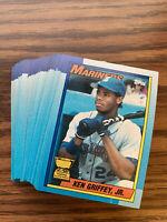 (50) Ken Griffey Jr 1990 Topps Rookie #336 Scar Card (no error) Recent Breaks