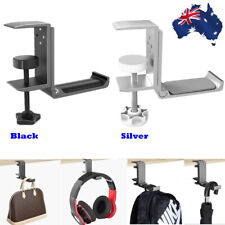 Headset Hanger Headphone Hook Holder Desk Mount Stand with Foldable Clamp