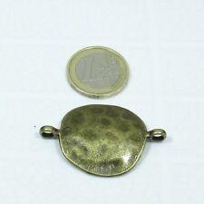 6 Abalorios Hebillas Para Cuero 43x29mm T74 Cobre Leather Copper Beads Perline