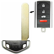 For Acura Replacement Blade Uncut Prox Smart Remote Emergency Key Blank Insert