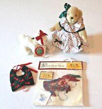 Muffy VanderBear & Lulu Dog Deck the Halls Christmas LOT Plush Bear with Stand