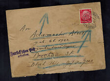 1941 Petrowitz Germany Cover to Alois Adamecki Dachau Concentration Camp KZ