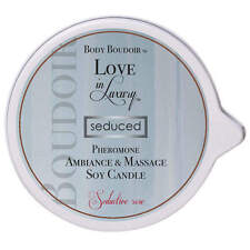 Love In Luxury Seduced Pheromone Ambiance & Massage Soy Candle Seductive Rose by