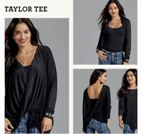 CAbi Women's Size XS Long Sleeve Warpped Front Draped Taylor Tee