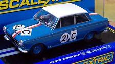 SCALEXTRIC 1/32 SCALE C3670 FORD CORTINA GT, 1964 BATHURST, GEOGHEGAN, #21, NIB
