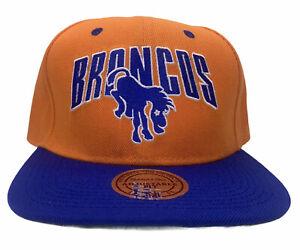 Denver Broncos Mitchell & Ness Snapback Hat Vtg Collection Cap Orange Blue New