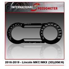 3D Speedometer Faceplate Fits a 2016 to 2019 Lincoln MKC/MKX (KM/H)