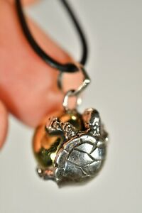 *HARMONY BALL* 925 Balinese Pendant +Cord Turtle Chime Jewellery