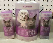 New Sentry Calming Diffuser w/ 2 Refills Pheromone for Anxious Cats