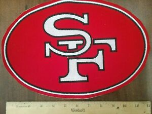 """NFL Patche S.F. 49ers Vintage Sew or Glue on Large 8""""× 12"""" embroidered rear new"""